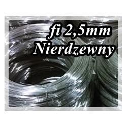 Drut sprężynowy NIERDZEWNY fi 2,5 mm AISIA302