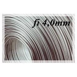 Drut sprężynowy czarny fi 4,0 mm SM 1kg 10 metrów