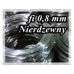 Drut sprężynowy NIERDZEWNY fi 0,8 mm AISIA302