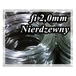 Drut sprężynowy NIERDZEWNY fi 2,0 mm AISIA302