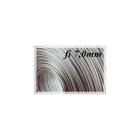 Drut sprężynowy czarny fi 7,0 mm SM 1kg 3,3 metra